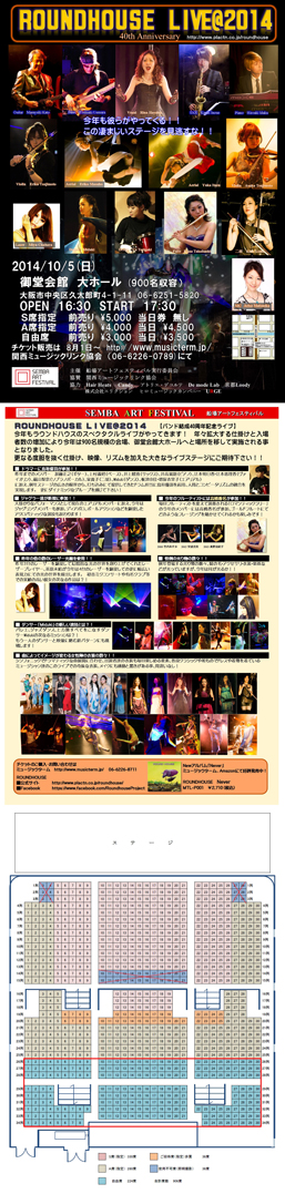 ROUNDHOUSE LIVE@2014